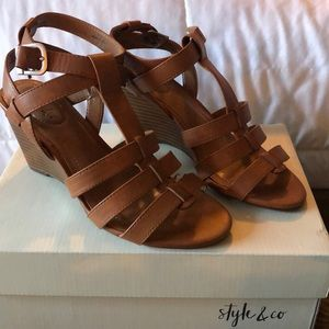 Style & Co strap wedges. 7m